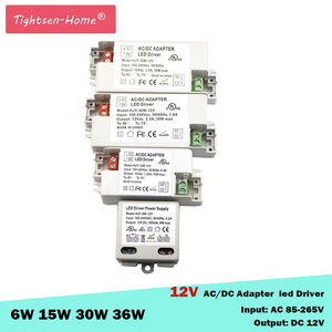 Image 1 - 12V LED Driver Transformers AC110V 220V TO DC12V Power Supply Adapter for 6W 15W 30W 36W 60W LED light bulb strips Household Use