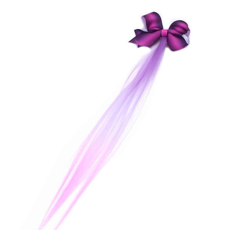 2019 милый детский бант в иностранном стиле градиентный парик цветная лента для волос со шпилькой заколка для волос Принцесса аксессуары для волос цветок головной убор