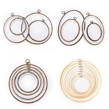 12-34cm round /oval Wooden Plastic Frame Embroidery Hoop Ring Circle Loop For Cross Stitch Hand DIY Needlecraft Sewing Tools(China)