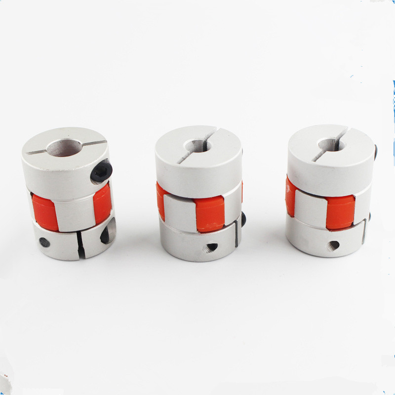 Funssor 2pcs Z Axis 5x8mm Jaw Shaft Coupler For Reprap Creality CR-10 3D Printer 5mm To 8mm Flexible Coupling Router Connector