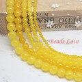 Горячая Распродажа 4,6, 8,10, 12 мм желтые нефриты круглые бусины из камня Aaa + 15,5 \