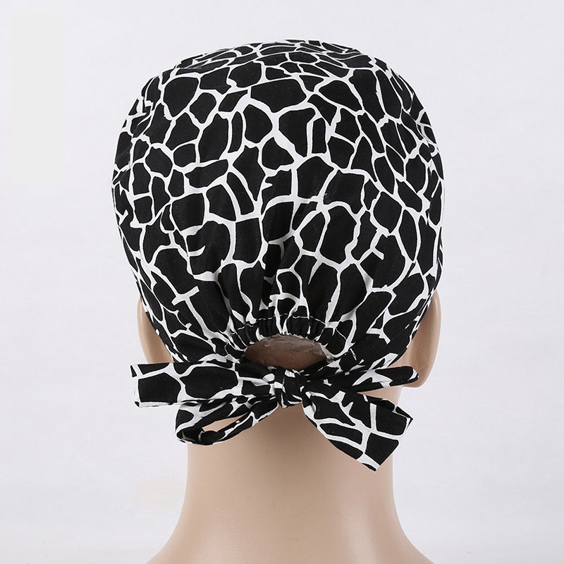 Fashion Printed Medical Surgical Cap Doctor Cap 100% Cotton Hat Male Nurse Cap Pet Hospital Dental Clinic Cap