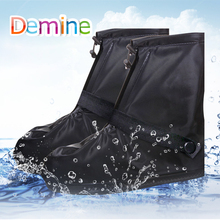 Demine Waterproof Shoes Cover Outdoor Sport Non-slip Reusable Rain Shoes with Internal Water Resistant Layer Ankle Boots Covers