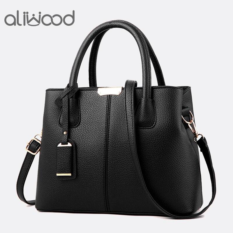 Aliwood New Simple Women Bag PU Leather Handbags Ladies Shoulder Bag Females Tote Messenger Bags Crossbody Bags Bolsas Feminina