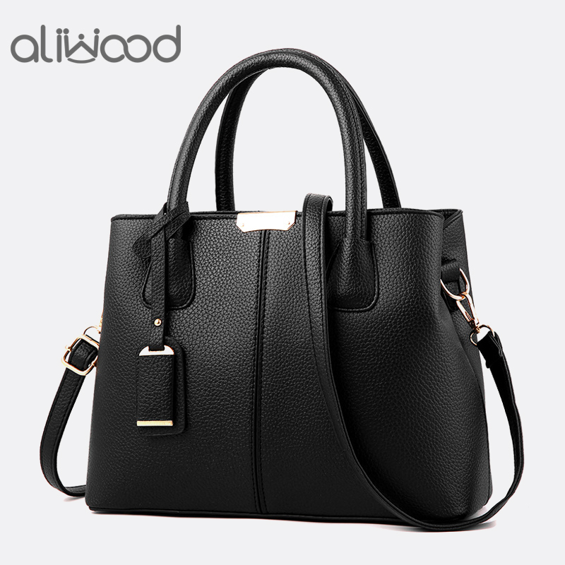 Aliwood New Simple Women Bag PU Leather Handbags Ladies Shoulder Bag Females Tote Messenger Bags Crossbody Bags Bolsas Feminina