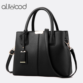 Aliwood New Simple Women bag PU Leather handbags Ladies Shoulder bag Females Tote Messenger bags Crossbody Bags Bolsas Feminina nigedu genuine leather women handbags designer bucket bag for women messenger bags bolsas femininas ladies tote shoulder bags