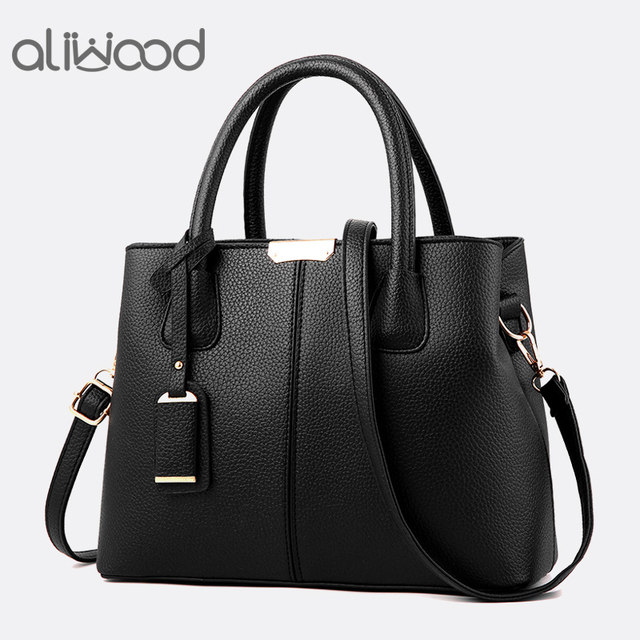 Aliwood Novas Mulheres Simples saco de PU bolsas de Couro Senhoras bolsa de Ombro Mulheres Tote sacos Do Mensageiro Sacos Crossbody Bolsas Feminina