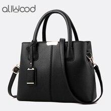 Aliwood جديد بسيط المرأة حقيبة بولي PU حقائب يد جلدية السيدات حقيبة كتف الإناث حمل حقيبة ساع حقائب كروسبودي Bolsas الأنثوية