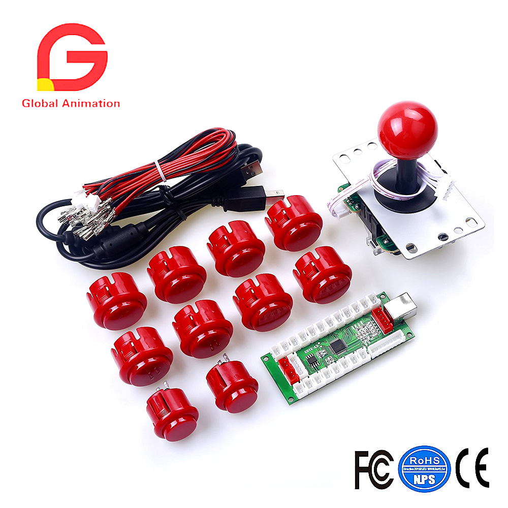 CY-3103 PC PS3 Android XBOX 360 For Windows 4 In 1 USB to Joystick Arcade Game Controller DIY Kit for 1 Player USB Joystick xbox 360 игры lt 3 0