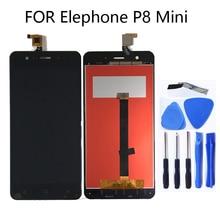 """Для Elephone P8 мини 5 """"ЖК дисплей Дисплей + Сенсорный экран планшета Экран для Elephone P8 мини ЖК дисплей монитор Ремкомплект + Бесплатная доставка"""
