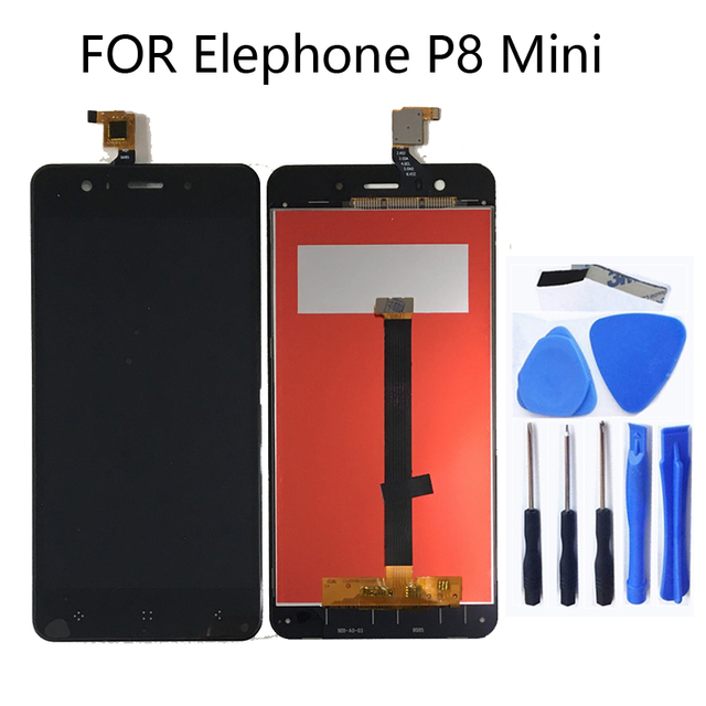 """For Elephone P8 Mini 5"""" LCD Display + Touch Screen Tablet Screen for Elephone P8 Mini LCD Monitor Repair Kit + Free shipping"""