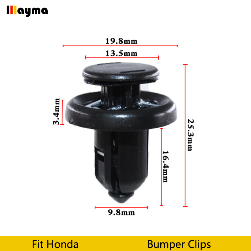 Plastics Clips Auto Vehicle Car Bumper Clips Retainer Fastener Rivet Door Panel Fender Liner For Honda Civic CRV Accord Odyssey