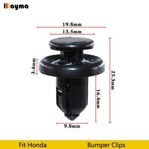 Image 1 - Пластиковые клипсы для автомобильного бампера, фиксаторы фиксации, заклепки, дверная панель, брызговик для Honda Civic CRV Accord odysey