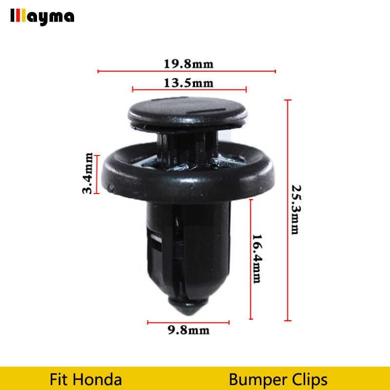 Kunststoffen clips Auto Voertuig Auto Bumper Clips Retainer Fastener Klinknagel Deur Panel Fender Liner Voor Honda Civic CRV Accord Odyssey
