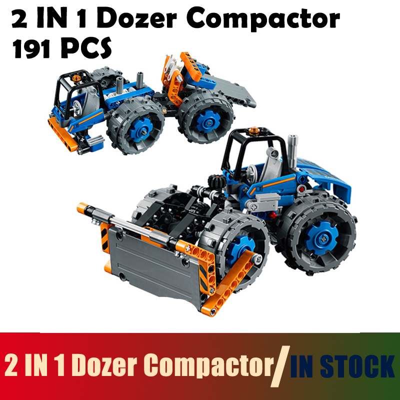 Models building toy 20071 191PCS 2 IN 1 Dozer Compactor Building Blocks Compatible with lego City 42071 toys & hobbies