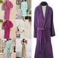 YONTREE L Mulheres Nightwear Vestes Compridas Night-robe Sleepwear Inverno Coral Fleece Roupão de Banho Quente Alta Qualidade