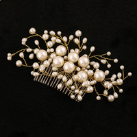 Factory direct selling fashion comb popular hair combs exquisite handmade pearl jewelry bridal wedding accessories