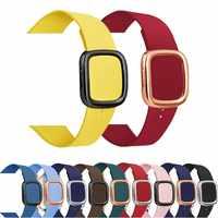 Leder Schleife Strap Für apple watch band 5 4 44/40mm moderne stil Armband handgelenk band zubehör Für iWatch serie 3/2/1 42/38mm