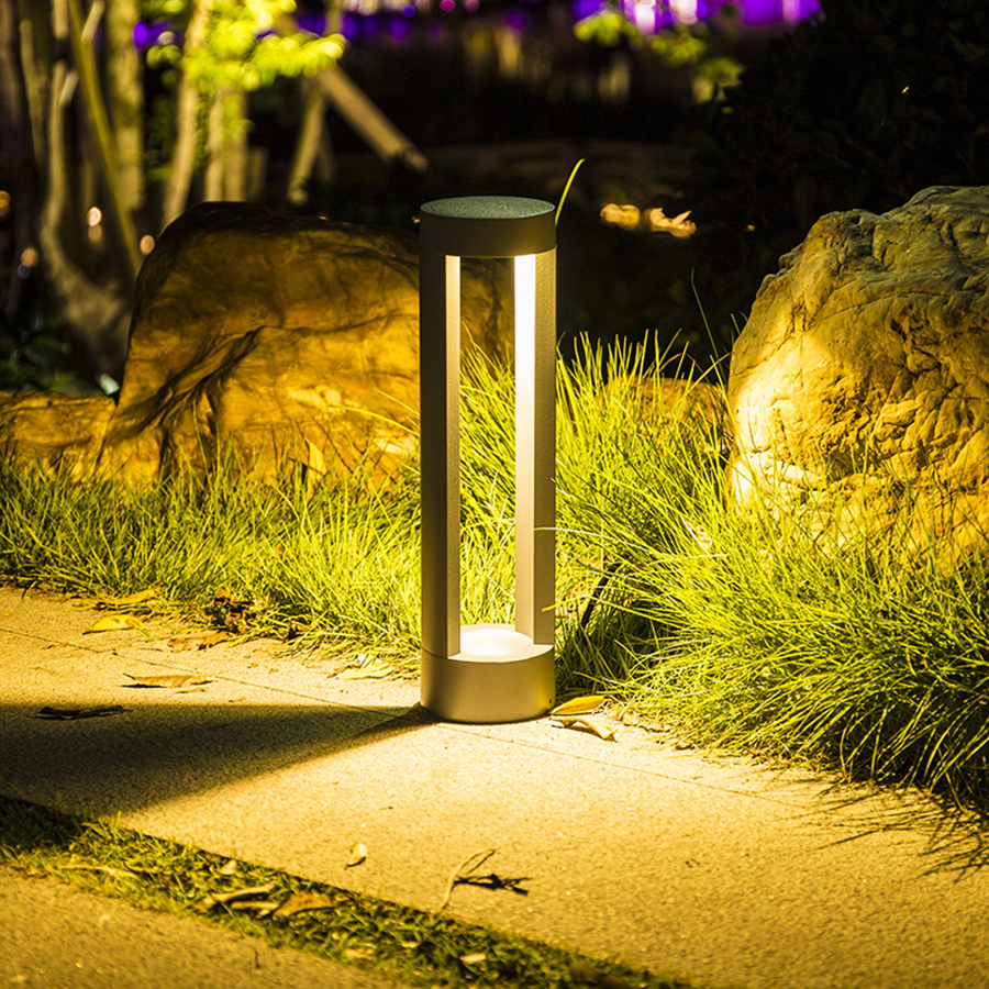 Thrisdar Outdoor Garden Pathway Lawn Light Backyard Villa Landscape Pole Pillar Lamp Park Street Road Path Bollards Light