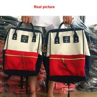 A Ring Backpack Canvas School Printing Ring Bag Backpack Women S Real Photos Women Backpack Youth