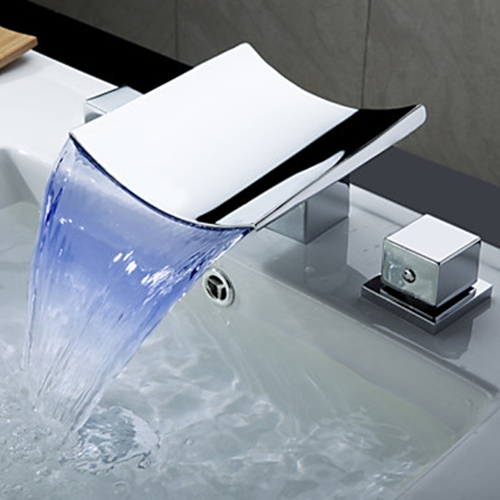 Aliexpress.com : Buy Superfaucet Bathroom Faucet Waterfall,LED Waterfall  Faucet,Sink Faucet Waterfall,Water Tap LED Temperature Controlled From  Reliable Led ...
