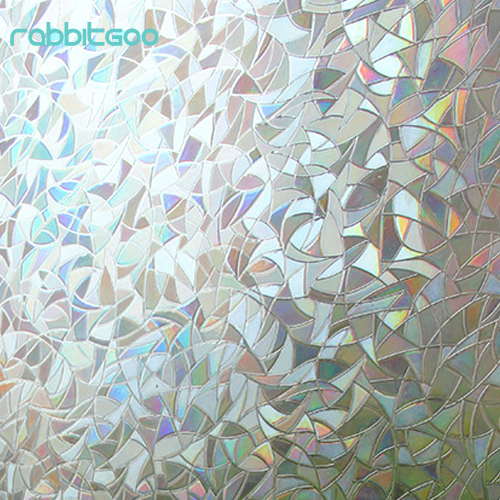 Rabbitgoo pvc colored decorative glass film bedroom