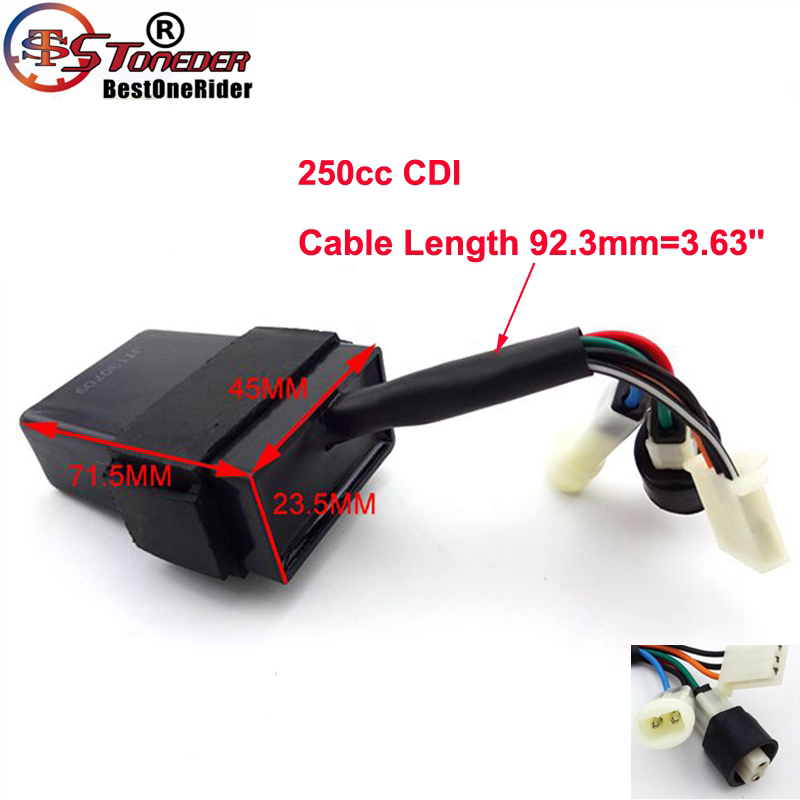 stoneder 7 wires ignition cdi box for chinese 250cc engine atv quad 4  wheeler utv loncin puma tiger jianshe hensim-in levers, ropes & cables from