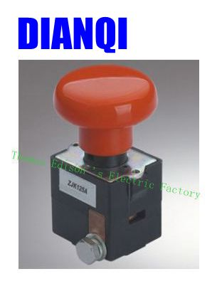цена на ZJK125 ( ED125 )Emergency disconnecting switch push button switch 125A 80V DC for car automobile vehicle