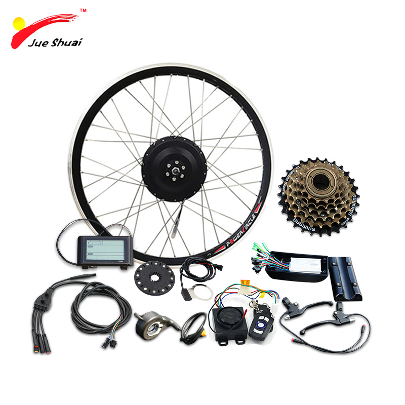 JS 36V500W Electric Bike Conversion Kit 20 24 26 700C 28 Rear Hub Motor Wheel e