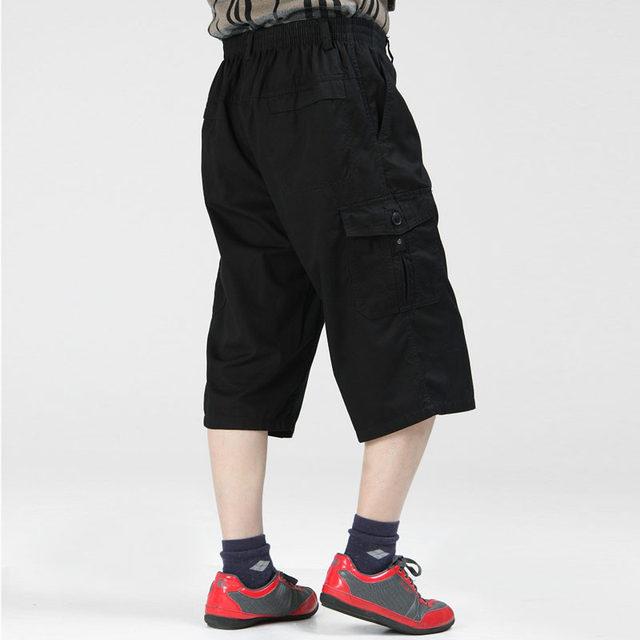 e72823e6075 Summer Men s Shorts Combat Big Plus Size 4XL 5XL 6XL New Baggy Man Board  Long Cargo Capris Pocket Male Black Khaki Army Green