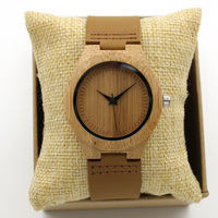 Fashion Japan Quartz Women Wood Watch Classic Simple Analog Luxury Vintage Genuine Leather Band Bamboo Wristwatches