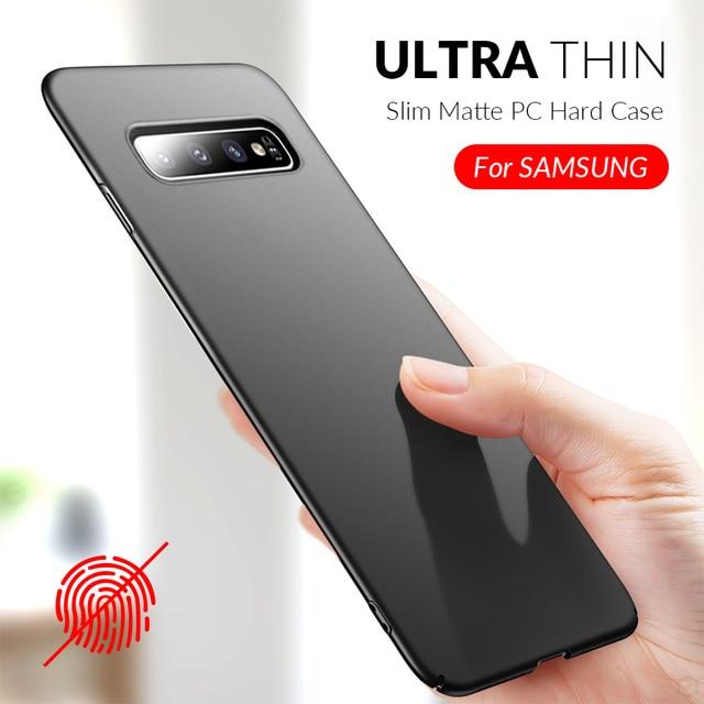 Slim Phone Case For Samsung Galaxy S10 S9 S8 Plus A50 A7 2018 A8 A6 A30 A40 A70 A80 Note 8 9 10 Plus Case Hard PC Matte Cover 1