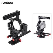 Andoer Video Camera Cage + Hand Grip + Top Handle Kit Sistema di Produzione Cinematografica con il Morsetto del Cavo per Sony A6000 a6300 A6500 NEX7 ILDC