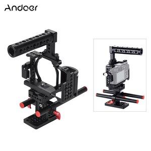 Image 1 - Andoer Video Máy Ảnh Cage + Hand Grip + Xử Lý Hàng Đầu Kit Làm Phim Hệ Thống với Cáp Kẹp đối với Sony A6000 a6300 A6500 NEX7 ILDC
