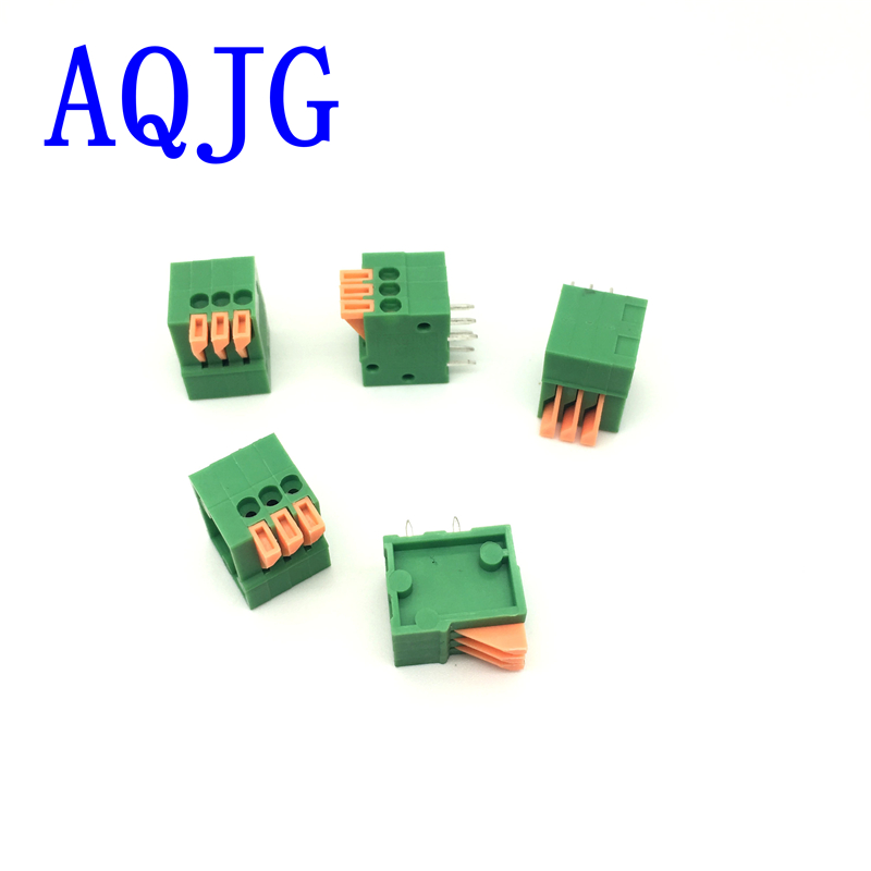 20PCS/Lot 141R-2.54-3P 3Pin PCB Spring Terminal Block ROHS connector Pitch 2.54mm