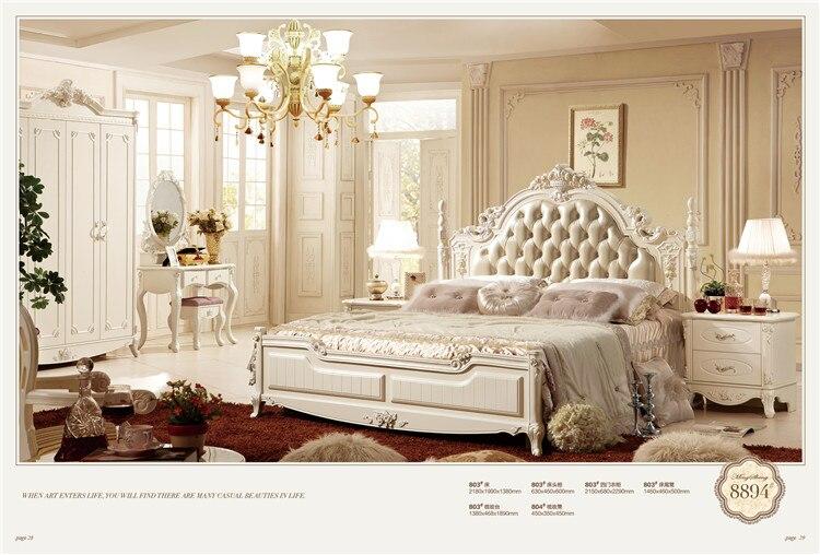 европейский королевская спальня наборы мебели Classic кроватькомод