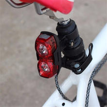Езда на велосипеде в ночное время супер яркий красный 2 светодиодный