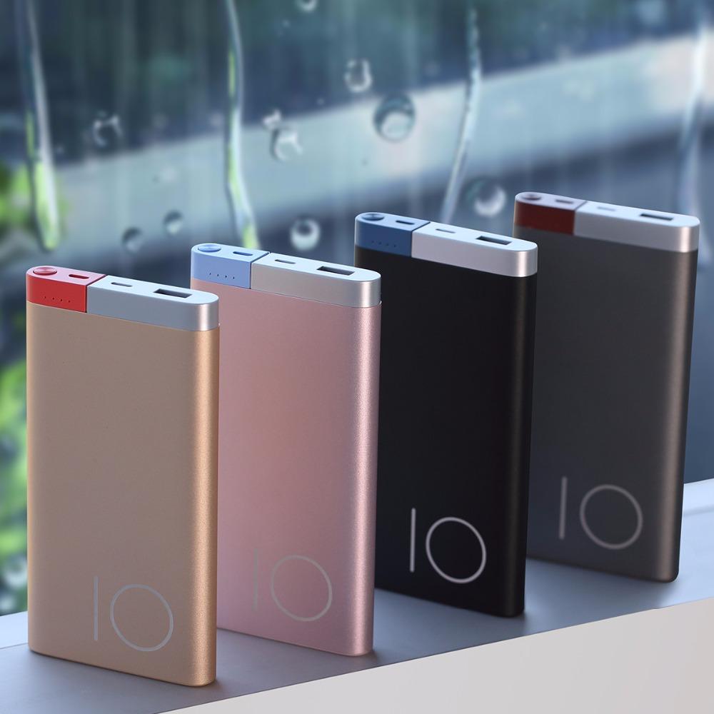 Slim 10000 mAh Power Bank, ROCK Portable Ultra-thin Polymer Metal Alloy Powerbank battery power bank 10000mah 16