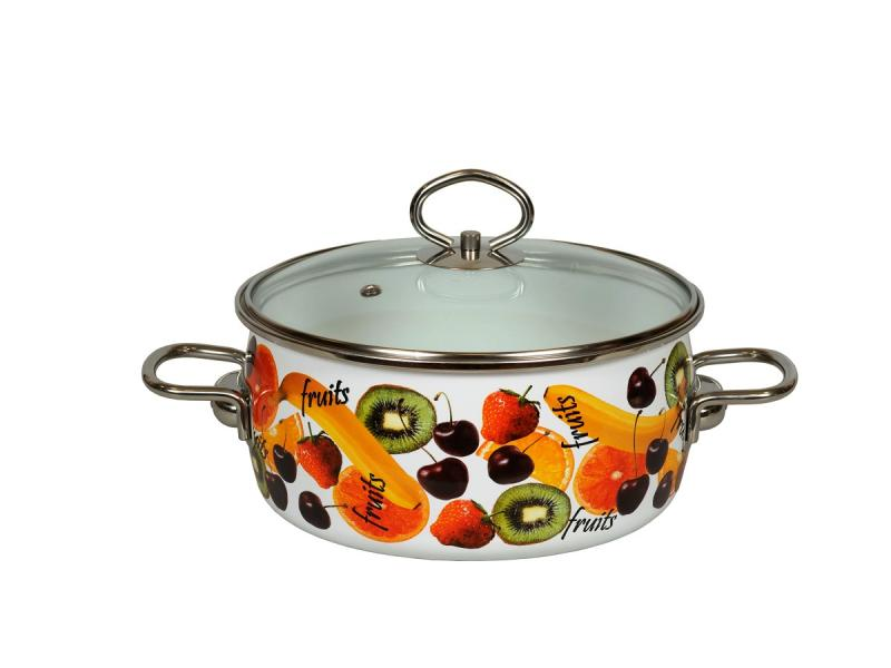 Pan VITROSS, Fruits, 2 L, with glass cover pan vitross fruits 3 l with glass cover