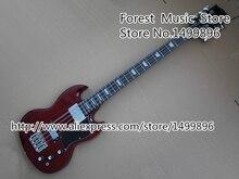 Top Selling Dark Red Electric Bass font b Guitar b font 8 String SG China OEM