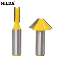 HILDA 1 2 Shark Milling Cutters 2 Pcs Set For Woodworking Of Flat V Type Door