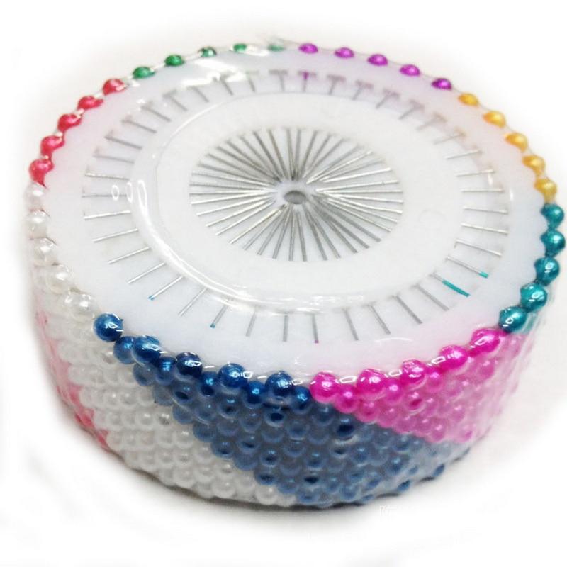 480 pcs 36 MM Rodada Colorido Decorativo Cabeça Dressmaking Cabeça Pérola Pino Marcador Artesanato DIY Ferramenta de Costura Acessórios