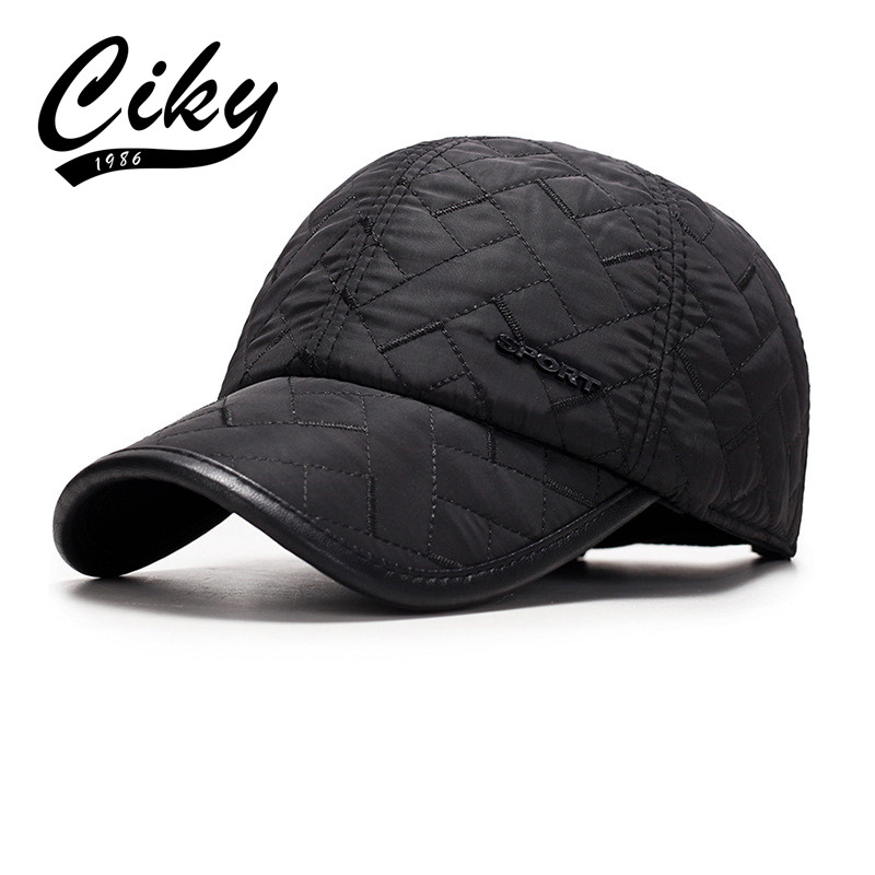 CIKY New Fashion Unisex Winter Earflat  Baseball Cap  Men Hat  Casual Adult Snapback Fast Dry Hat B-400 novelty women men winter warm black full face cover three holes mask beanie hat cap fashion accessory unisex free shipping