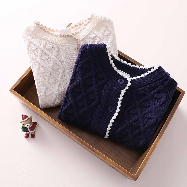 2016 niños del resorte de la ropa del bebé del suéter sólido de color suéter a cuadros ropa del bebé del desgaste suéteres niños ropa abrigo