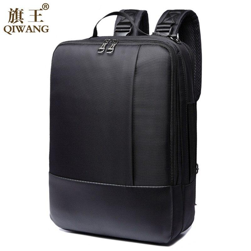 Qi Wang Laptop Backpack For Men 15.6 Inch Business Backpack Men Waterproof Casual Satchel Shoulder Bags School bag for Teenager