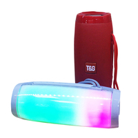 Colorful LED Lights Bluetooth Speaker Outdoor Portable HIFI Stereo Wireless Hands Free Speaker Support TF FM USB Flash Subwoffer