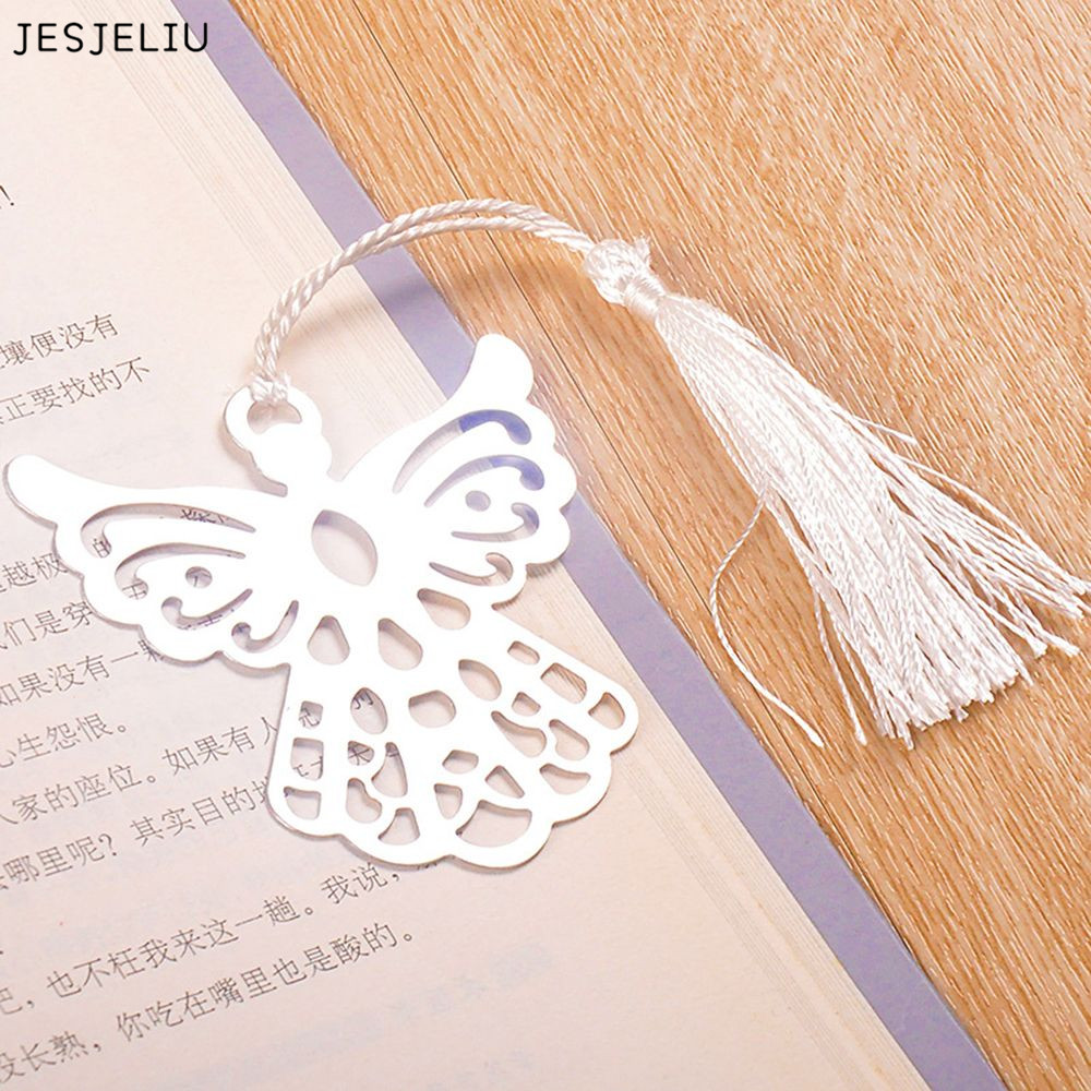 Holy Guardian ANGEL Alloy Bookmark Tassels Stationary Christening