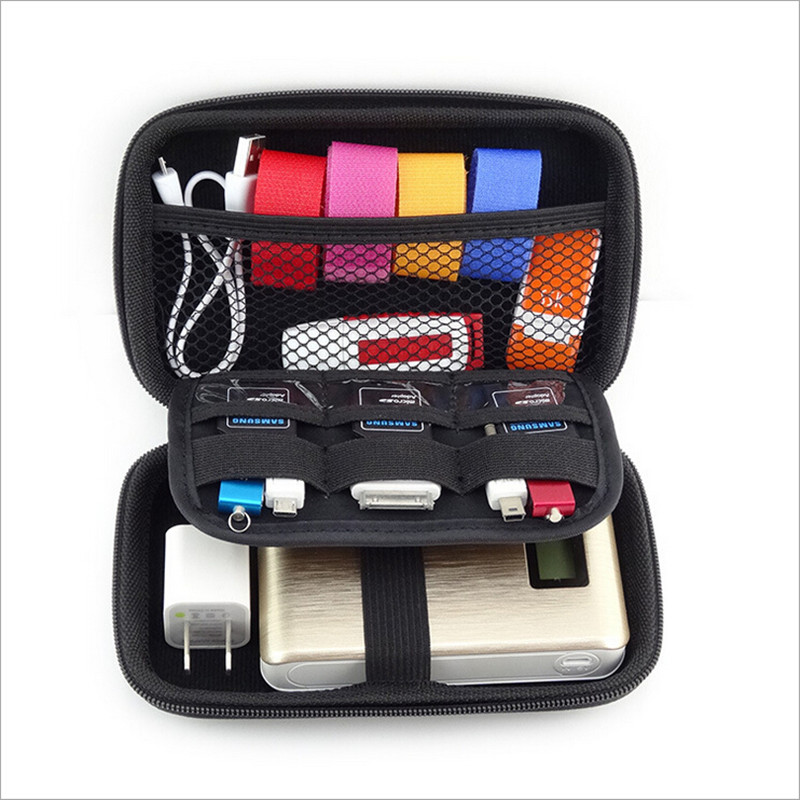 Mobile Kit High Capacity Storage Bag Digital Gadget Devices USB Cable Data Earphone Pen Travel Insert
