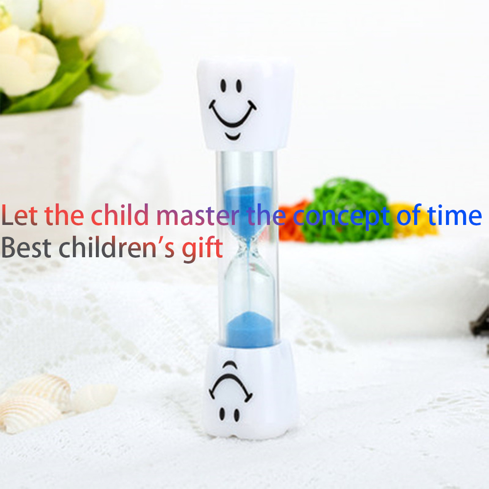 Children Kids Tooth Brushing Timer 2 Minutes Smiling Face for timing cooking games exercising Sand Timer Clock Sandglass deco in Hourglasses from Home Garden