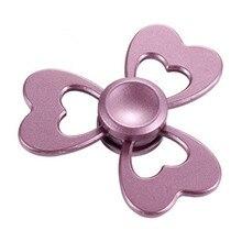 Непоседа счетчик палец руки игрушки Металла EDC анти-стресс игрушка для взрослые дети tri spinner розе роза розовый золото серебро figet spiner